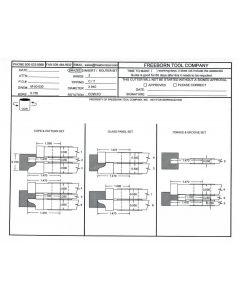 FREEBORN - MC-50-030 - CARBIDE COPE & PATTERN CUTTER SET Shaper Cutter