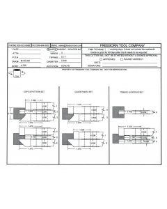 FREEBORN - MC-50-055- CARBIDE COPE & PATTERN CUTTER SET Shaper Cutter
