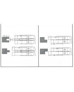 FREEBORN PC-10-500 - CARBIDE FLAT PANEL COPE & PATTERN SET Shaper Cutter