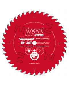 FREUD - P410T  THIN KERF NEXT GENERATION PREMIER FUSION GENERAL PURPOSE BLADE