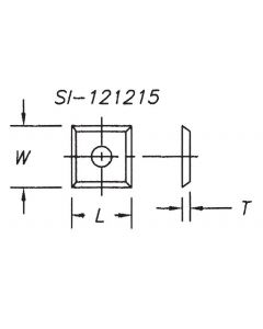 SOUTHEAST TOOL SI-151525 Insert 15 x 15 x 2.5  ( 10 pc per pack)