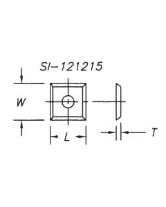 SOUTHEAST TOOL SI-1951215 Insert 19.5 x 12.0 x 1.5, 4 sided ,1 hole (pk 10 )