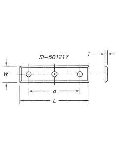 SOUTHEAST TOOL SI-501217 Insert 50 x 12.0 x 1.7   4 sided w/3 hole (pk 10)