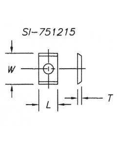 SOUTHEAST TOOL SI-751215 Insert 7.5 x 12 x 1.5  ( 10 per box)
