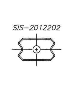 SOUTHEAST TOOL SIS-2012205 20x12x2.0 Scraper Insert Knife, 5mm Rad (10pc/pk)