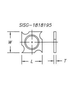SOUTHEAST TOOL SISG-141420-2 Spur/Grooving Knife,14x14x2.0 with 2mm Rad (10 Pc)