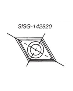 SOUTHEAST TOOL SISG-161630 Spur/Grooving Knife, 16 x 16 x 3.0 (Box of 10)