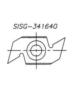 SOUTHEAST TOOL SISG-341670 Spur/Grooving Knife, 34 x 16 x 7.0  (Box of 10)